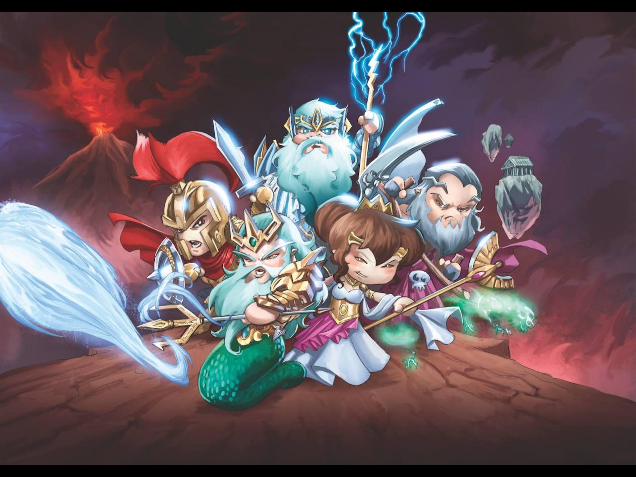 Ilustración exclusiva del juego de cartas Olympians Wars