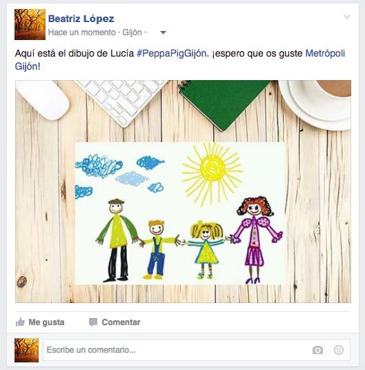 Concurso Peppa Facebook